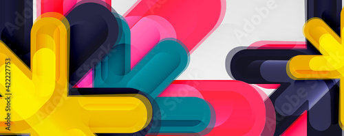 Obraz na płótnie Abstract glossy crosses background for business or technology presentations, int