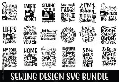 Fotografia, Obraz sewing design SVG Bundle Cut Files for Cutting Machines like Cricut and Silhouet
