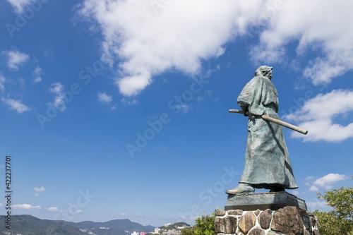 Canvas Print 坂本龍馬の銅像 長崎市風頭公園