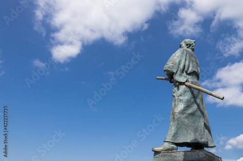 Photo 坂本龍馬の銅像 長崎市風頭公園