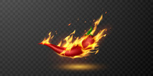 Medium And Hot Fire Chilli Pepper.