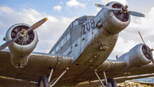 Close-up Of Junkers Ju 52 German Tri-motor Transport Aircraft Manufactured From 1931 To 1952
