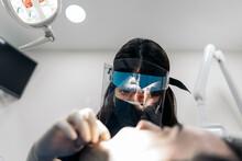Dentist Doing Surgery Procedure
