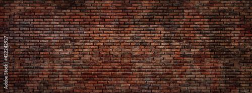 Fototapeta Old red bricks wall texture and background. obraz