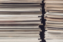 Stacks Of Magazines Close Up