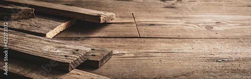 Fototapeta Rustic wooden boards on a table obraz