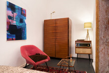 Bedroom With Vintage Furniture