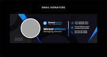 Elegant Corporate Minimal Email Signature Flat Mail Template Or Email Footer And Personal Business Mobile Corporate EMAIL Signature Design