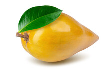 Egg Fruit, Canistel, Yellow Sapote Isolated On A White Background.