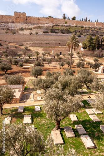 Fotomural Mount of Olives in Jerusalem - Palestine, Israel