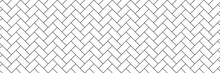 Subway Tile Background. White Seamless Patter For Kitchen Backsplash, Bathroom Wall, Shower. Ceramic Herringbone Vector Texture