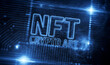 NFT Crypto Art technology symbol 3d illustration