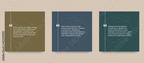 Fotografia Quotes template in decorative frame block