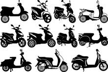 Scooter SVG Cut Files | Vespa Silhouette | Motorbike Svg | Scooter Bundle