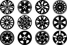 Wheel Hubcap SVG Cut Files | Hubcap Silhouette Bundle | Car Wheel Svg | Tire Wheel Bundle