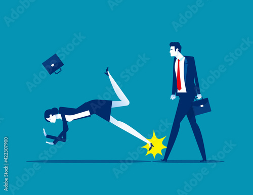 Stampa su Tela Causing the companion to fall to the ground