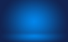 Empty Dark Blue Room With Gradient Blue Abstract Background For Display Your Product