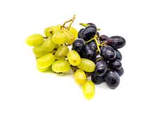 Roter Und Gelber Wein Isoliert Auf Weißen Hintergrund