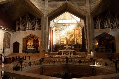 Fotografie, Obraz Altar of the Basilica of the Annunciation in Nazareth, Israel