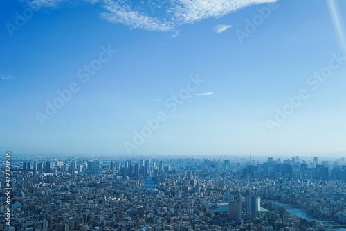 Obraz 東京の風景・高層ビル群 - fototapety do salonu