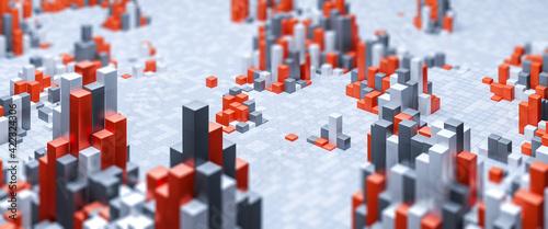 Fotografia Abstract geometric background