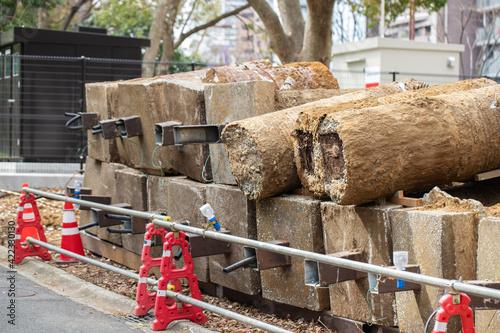 Fototapeta コンクリートの塊 obraz