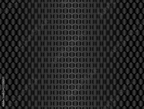 Tableau sur Toile Vector black carbon fiber seamless background