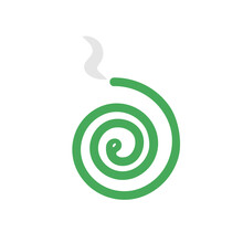 Mosquito Coil Icon. Clipart Image Isolated On White Background