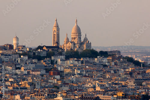 Fototapeta The sacre coeur church in Mont Matre Paris France