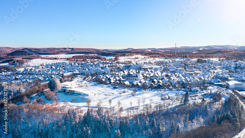 Air view of  the city of Winterberg in Hochsauerland Fototapet