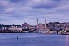 The New Mosque (Yeni Cami) Originally Named The Valide Sultan Mosque In Istanbul Turkey