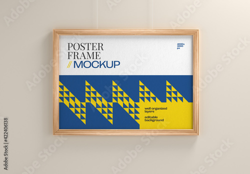 Obraz Frame Poster Mockup - fototapety do salonu