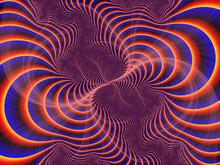 Purple Violet Blue Fractal, Design, Abstract Background With Spiral