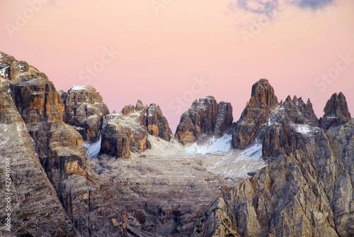 Vászonkép Brenta Dolomite in Italy, Europe