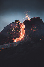 Iceland Volcano Eruption Of Mount Fagradalsfjall, Iceland..