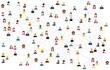 pattern of people