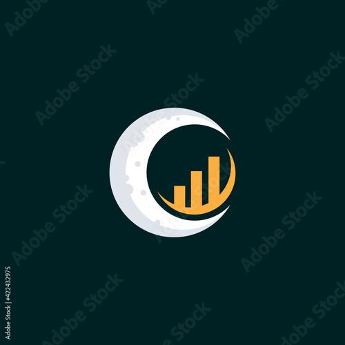 Canvas business moon logo