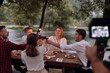 Leinwandbild Motiv french dinner party on summer