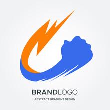 Thunder Fist Logo Design. Eps 10 Vector Illustration.