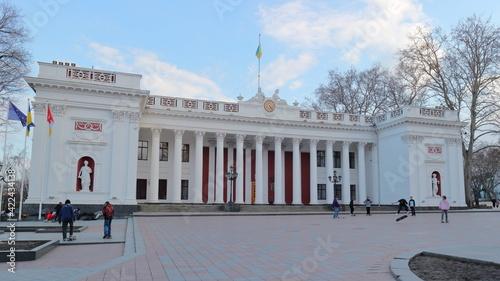 The building of the Odessa City Hall on Primorsky Boulevard Fototapet