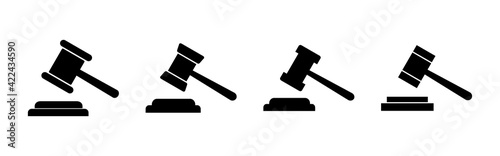 Obraz na plátně Gavel icon set