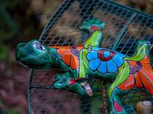 Colorful Broken Ceramic Chameleon