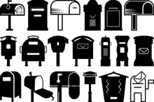 Mailbox SVG Cut Files | Opened Mailbox Silhouette Bundle | Letter Box Svg