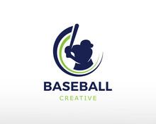 Baseball Logo Shot Ball Logo Sport Creative Logo Symbol