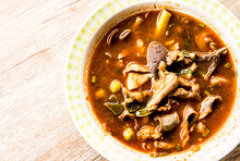 Thai Northern Style Curry Pork Or  Kaeng-om,  , In Door Chiangmai Thailand
