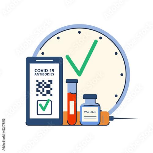 Obraz na płótnie Time of vaccination against covid-19