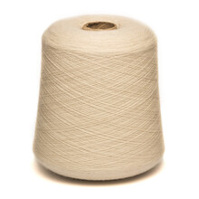 Colored Yarn Threads White Isolated