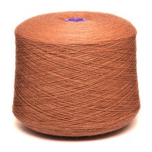 Colored Yarn Threads Orange Isolated
