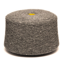 Colored Yarn Threads Gray Isolated
