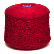Colored Yarn Threads Red Isolated